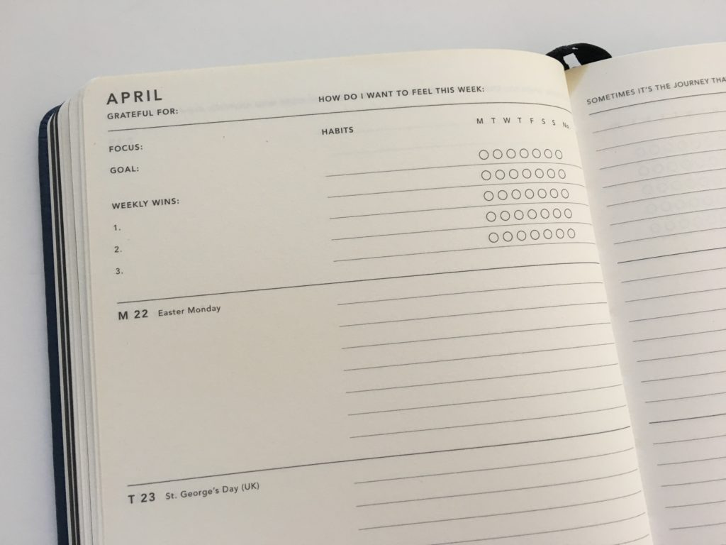 mi goals weekly planner review habit tracker monday start horizontal lined and unlined top 3