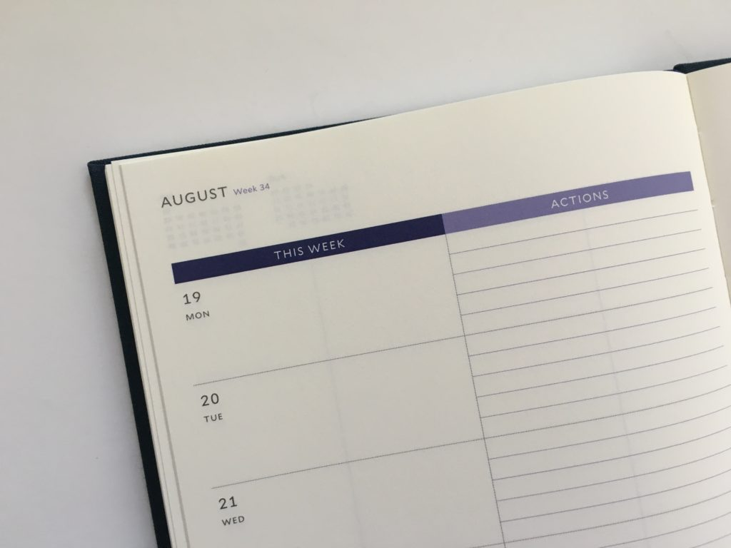 milligram a5 weekly planner review