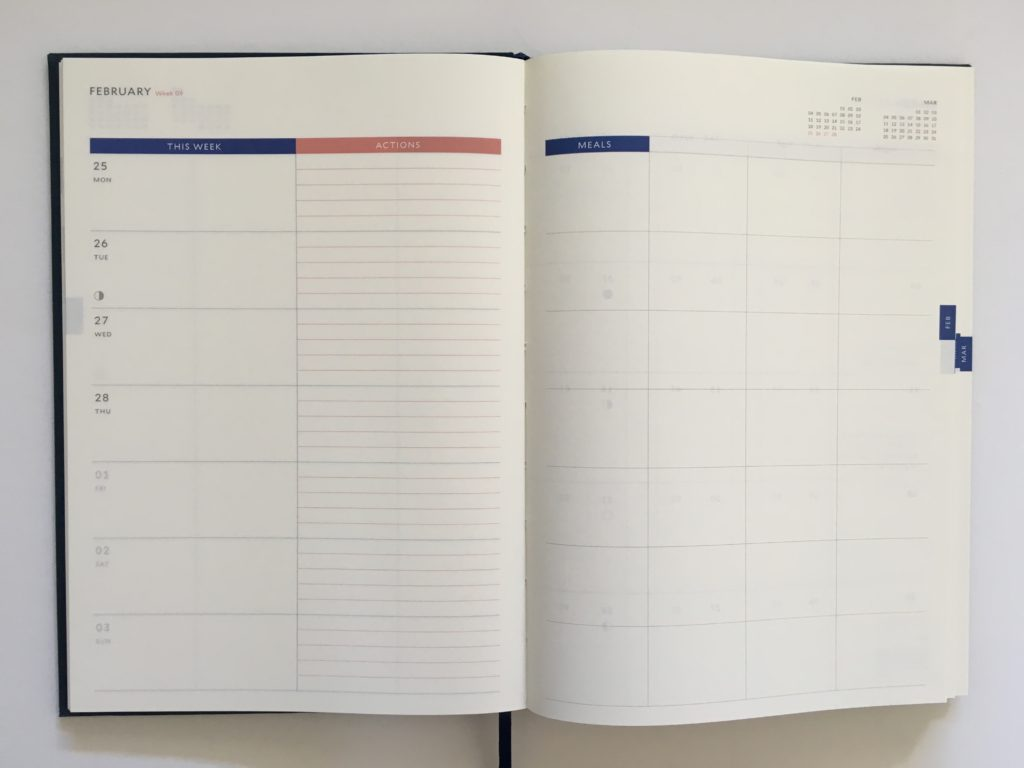 milligram family planner a5 page size weekly 2 pages appointment to do categories color block gender neutral