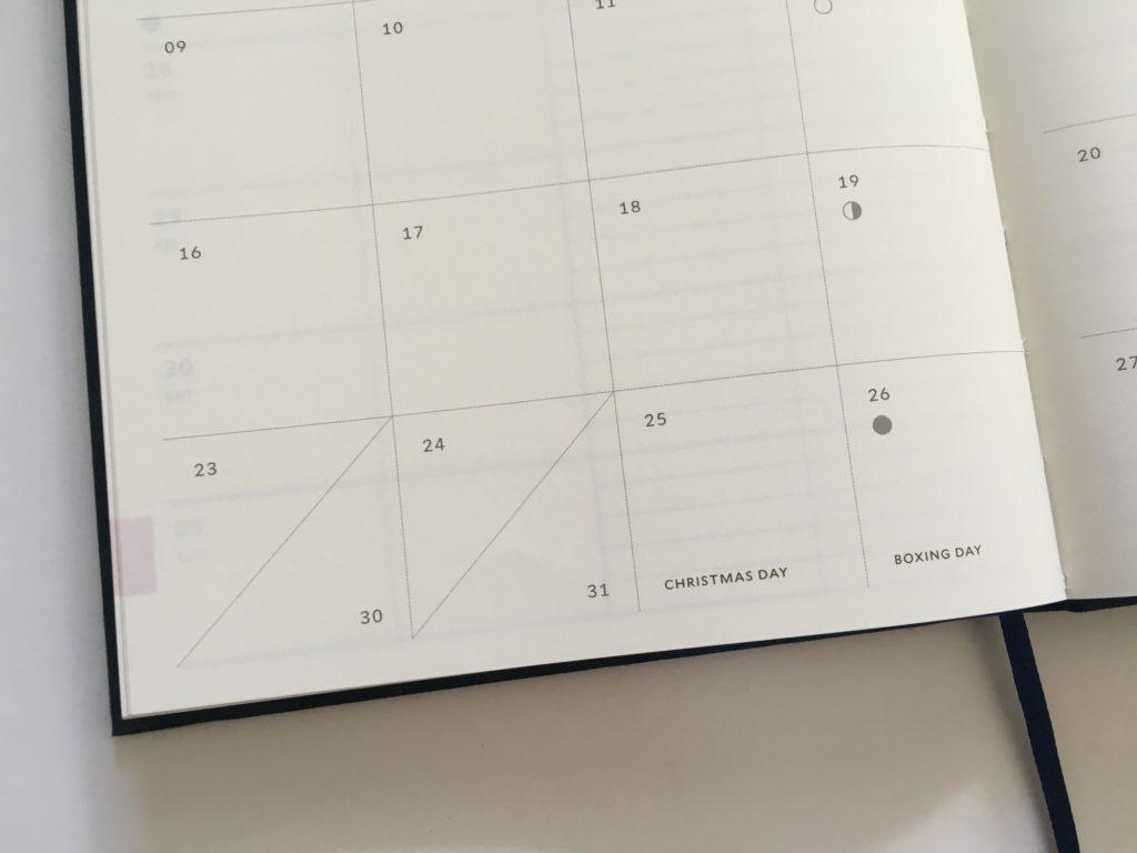milligram family planner monthly calendar a5 split boxes