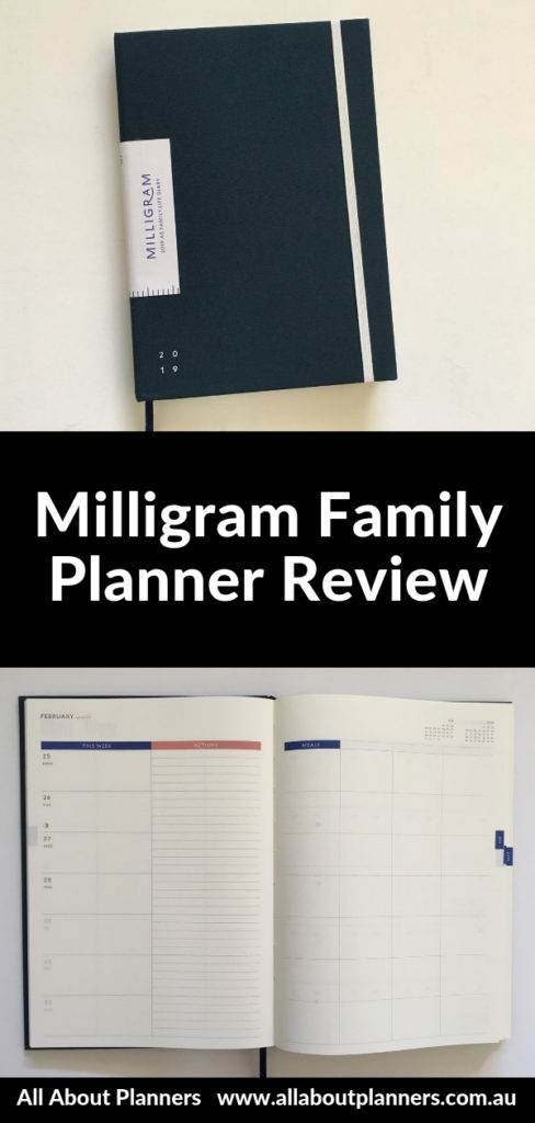 milligram family planner review pros and cons pen testing australian made horizontal lined unlined categories monthly budget