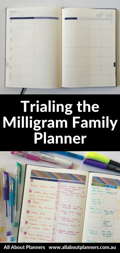 milligram family planner review pros and cons weekly spread glitter washi tape rainbow australian planner