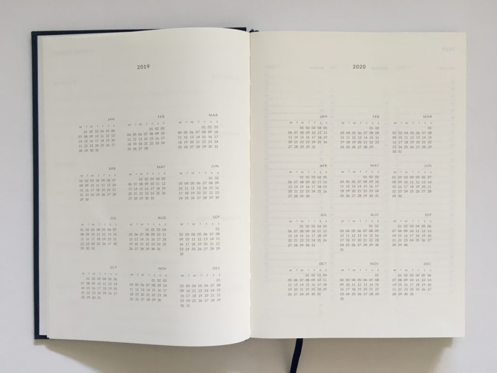 milligram planner review australian a5 size sewn bound minimalist gender neutral annual calendar