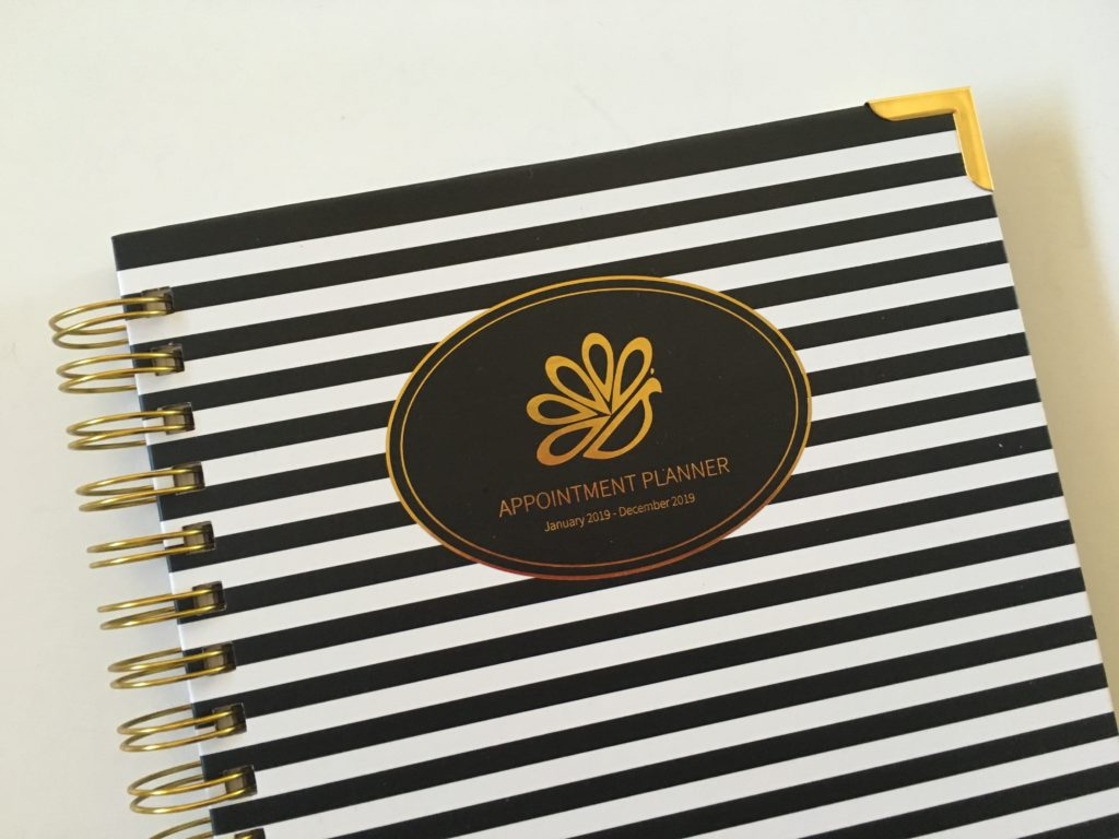 peacock paper appointment planner review hardcover minimalist freelancer self employed