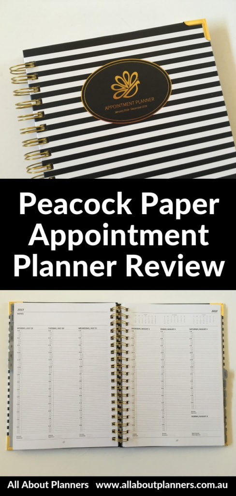 peacock paper appointment planner review pros and cons vertical hourly monday start 15 min schedule self employed diary agenda