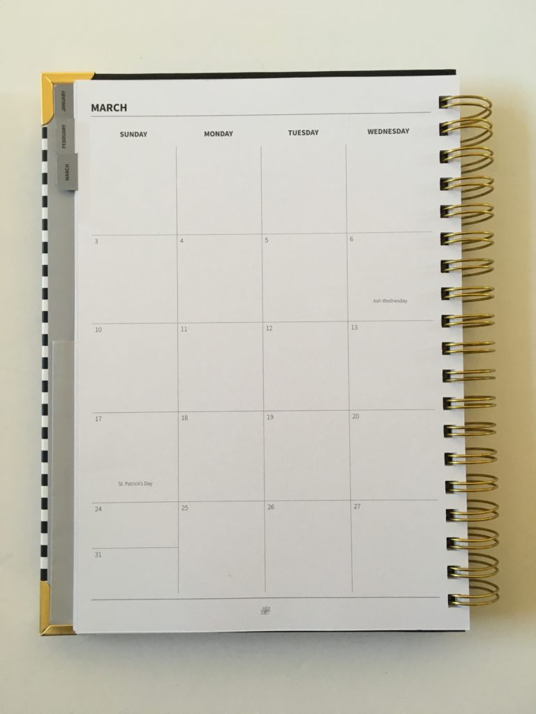 peacock paper planner review appointment layout monthly 2 page calendar sunday start minimalist