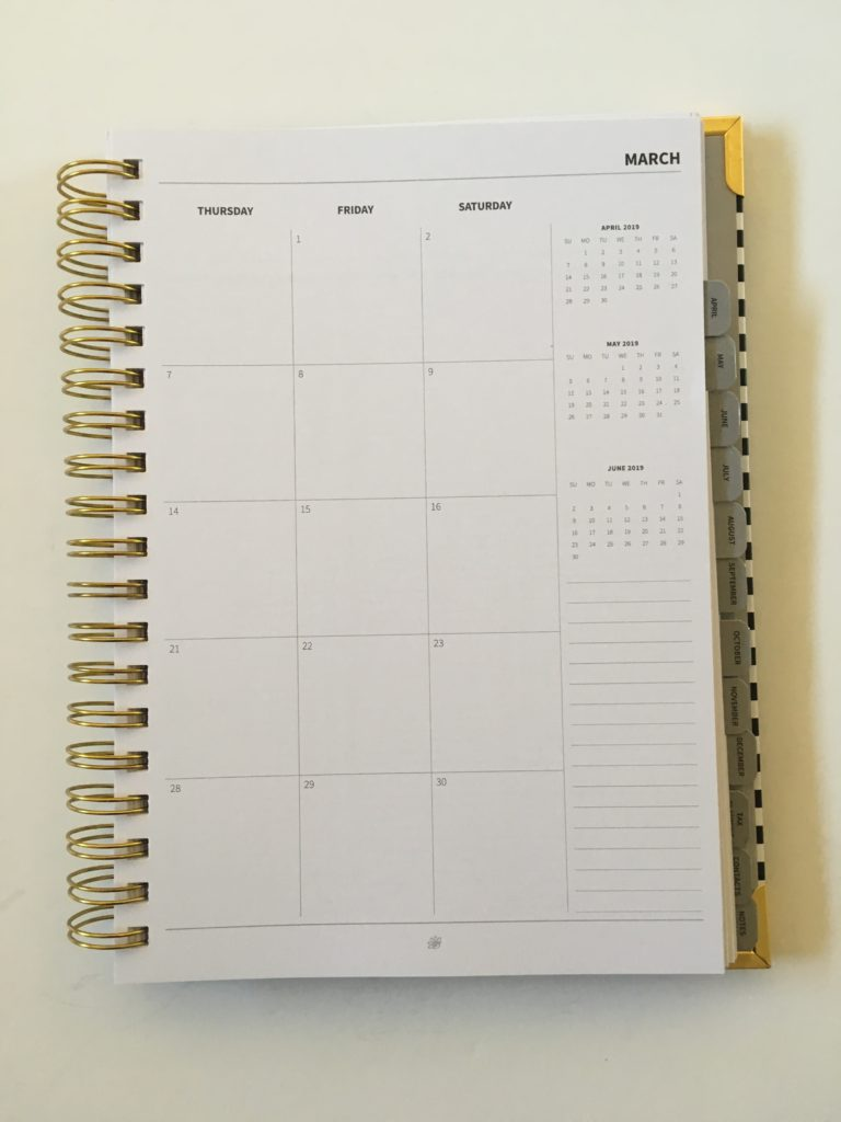 peacock paper planner review appointment layout monthly 2 page calendar sunday start self employed direct sales freelance