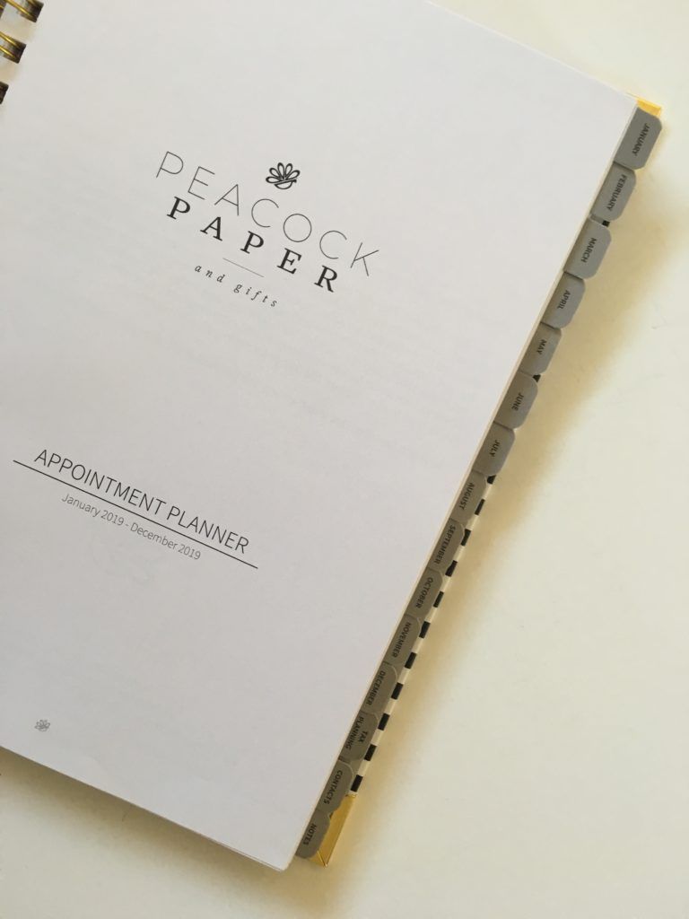 peacock paper planner review tabs paper quality pen testing pros and cons