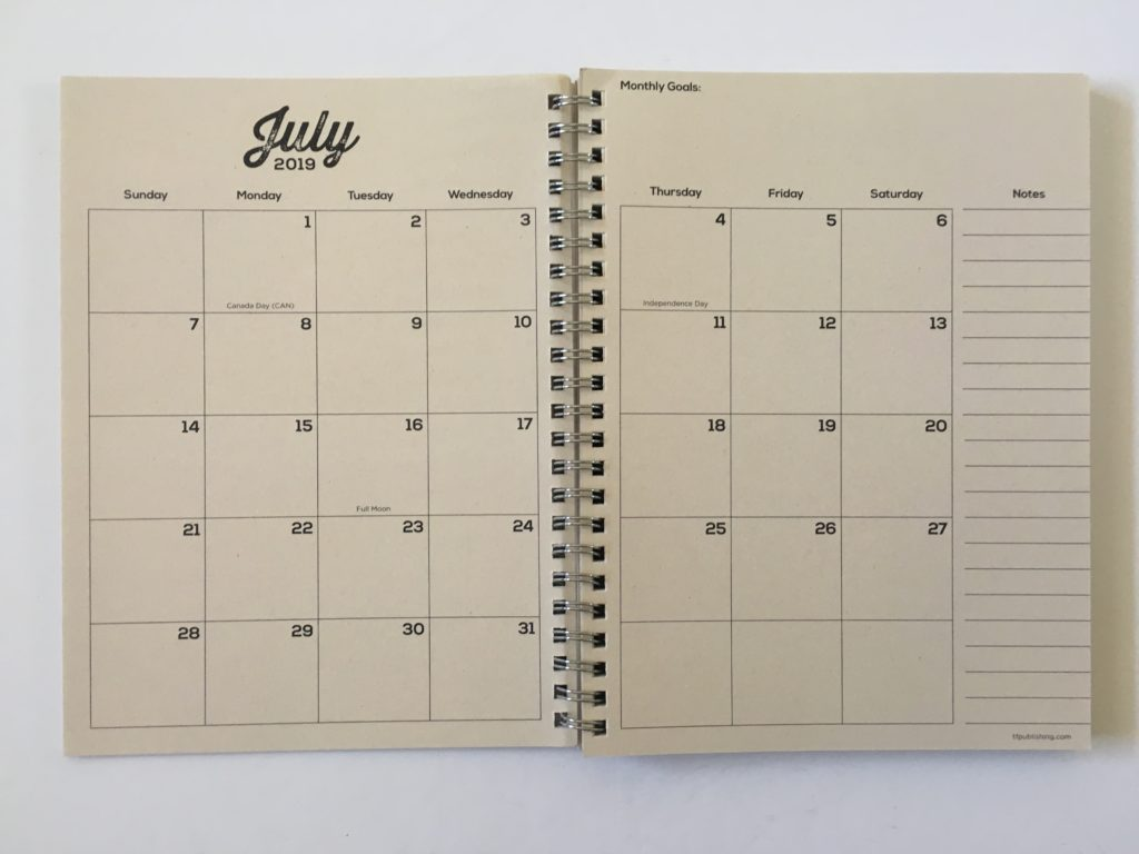 tf publishing planner review 2 page monthly calendar monday start