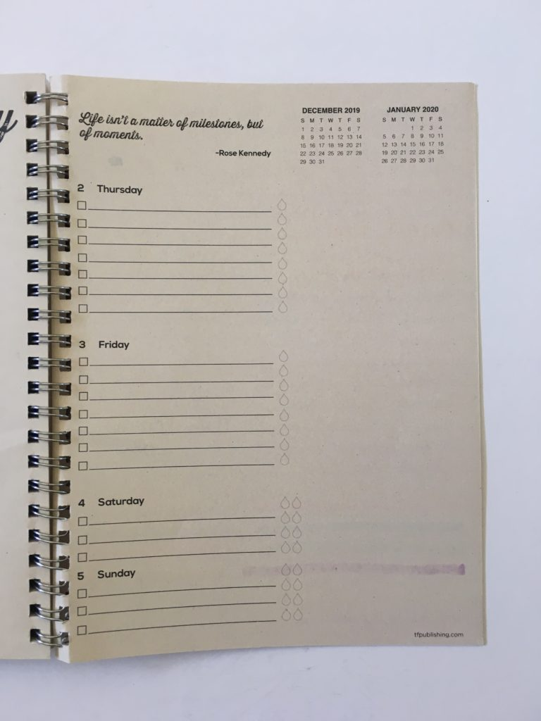tf publishing planner review pen testing ghosting bleed through