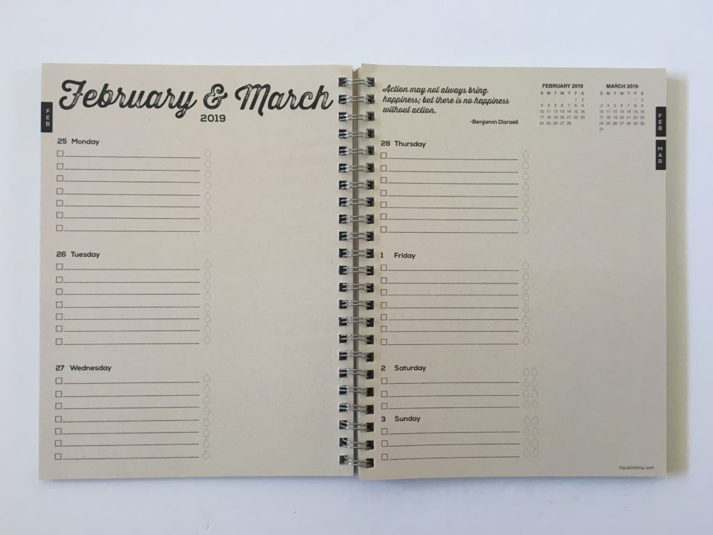tf publishing planner review pros and cons horizontal 2 pages monday start combined weekend simple minimalist