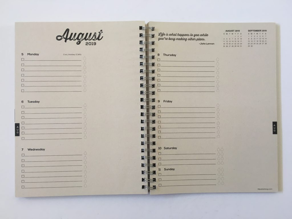 tf publishing planner review pros and cons horizontal 2 pages monday start combined weekend simple minimalist kraft
