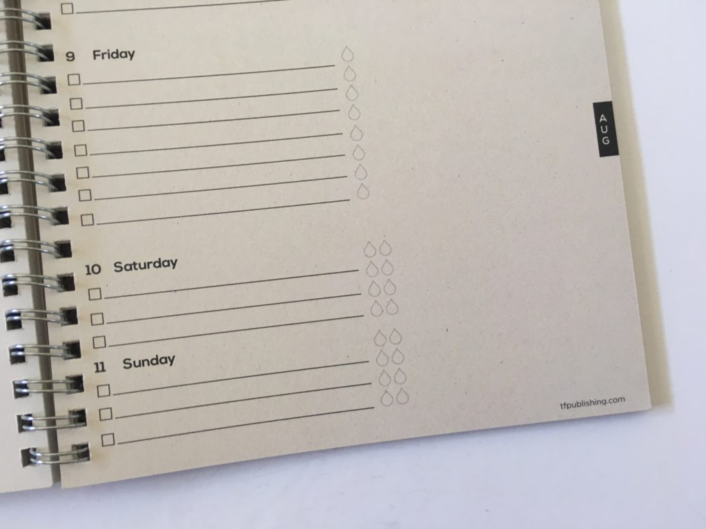 tf publishing weekly planner review monday start