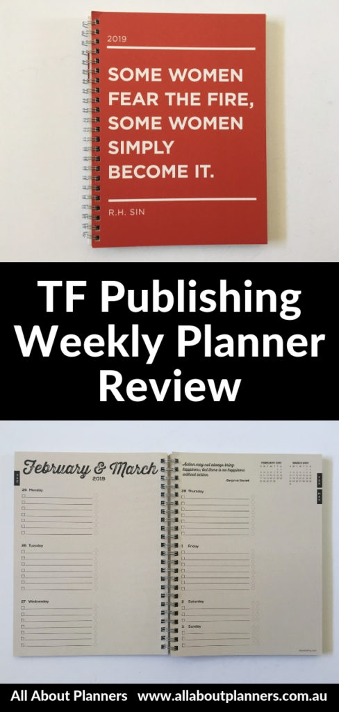 tf publishing weekly planner review monday start pros cons video walkthrough kraft paper cheap affordable lightweight school