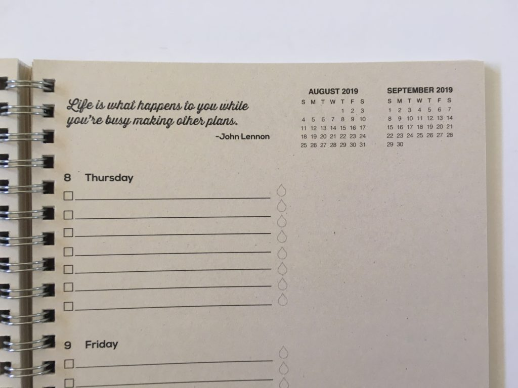 tf publishing weekly planner review monday start weekend combined