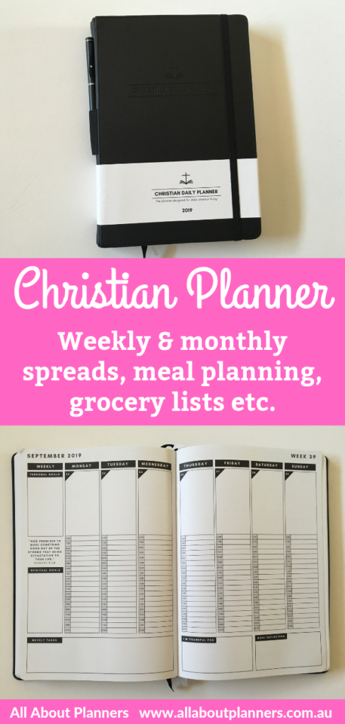 Christian daily planner review vertical weekly schedule layout monthly planning bible reading log minimalist video flipthrough