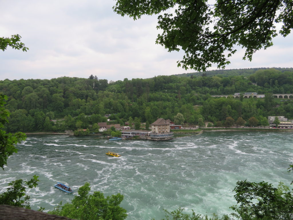 rhine falls switzerland viewpoint from laufen castle side tips how to get there spring may half day trip from Zurich