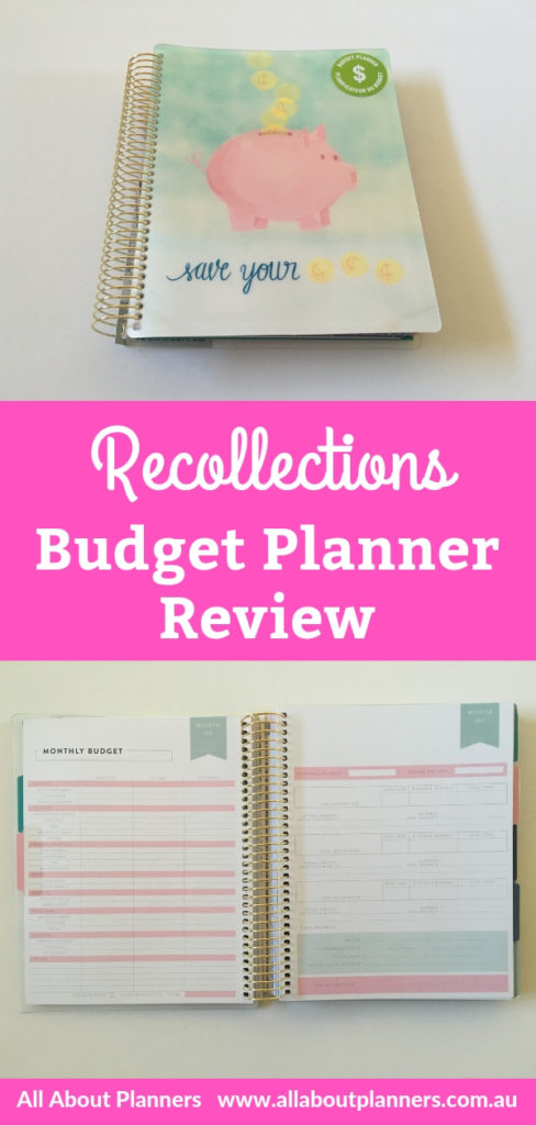 Recollections budget planner review pros and cons video monthly budget bill tracker expenses savings goals pen testing cheap