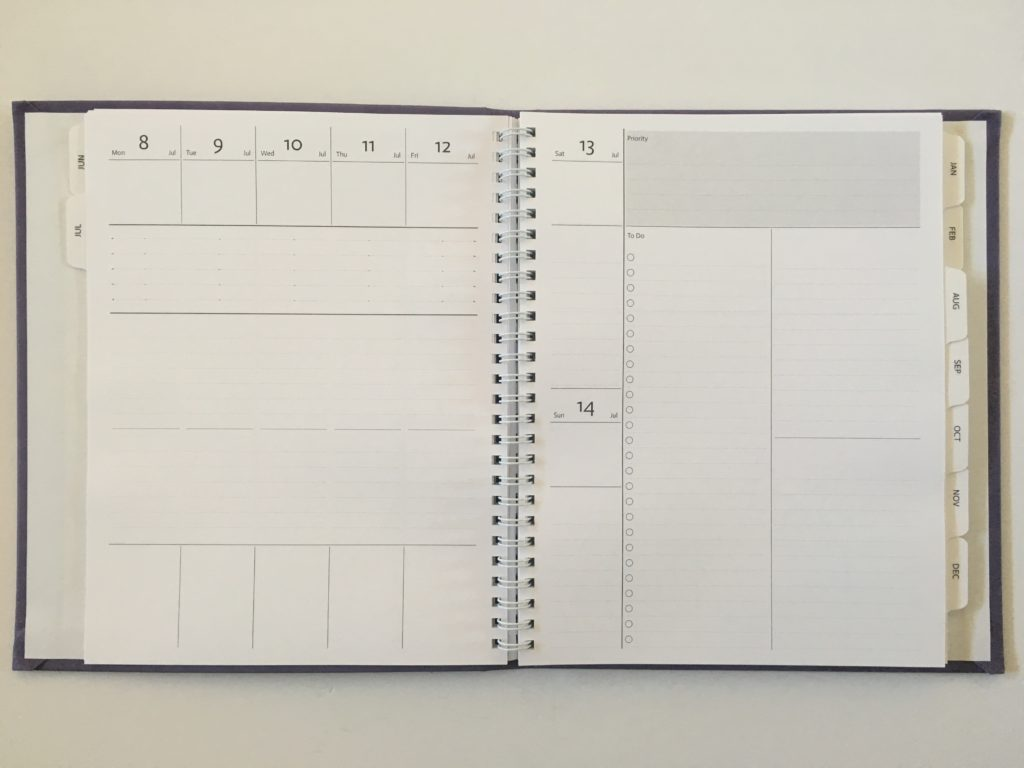 agendio custom weekly planner review personalised monday start vertical lined project planning checklist medium size hardbound neutral colors