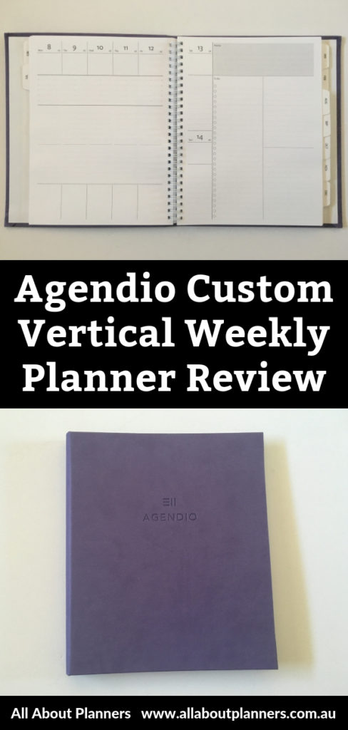 agendio vertical weekly planner review monday start lined not hourly project planning checklist custom personalised hardcover
