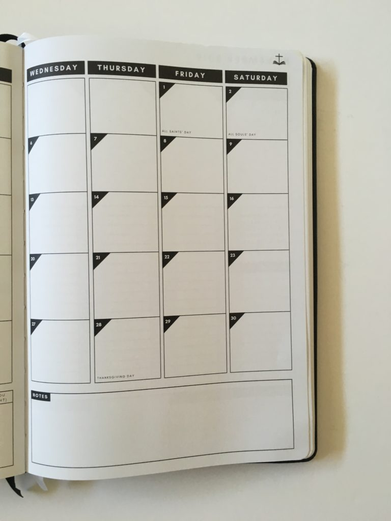 christian daily planner 2 page monthly calendar