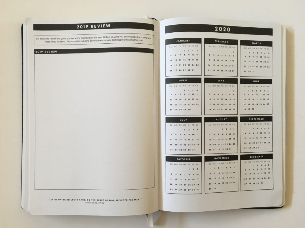 christian daily planner dates at a glance