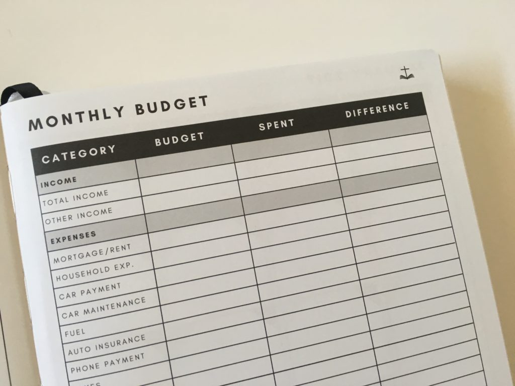 christian daily planner monthly budget review pros and cons