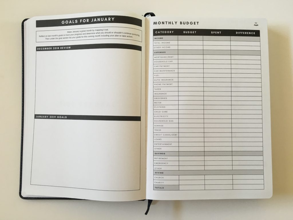 christian daily planner monthly budget review pros and cons goals