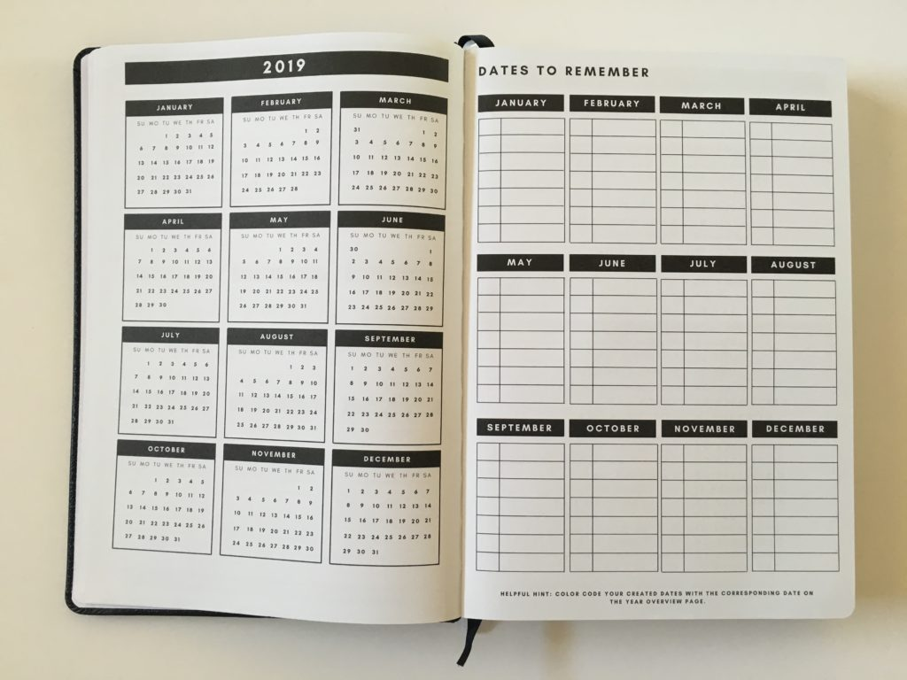 christian daily planner review dates to remember
