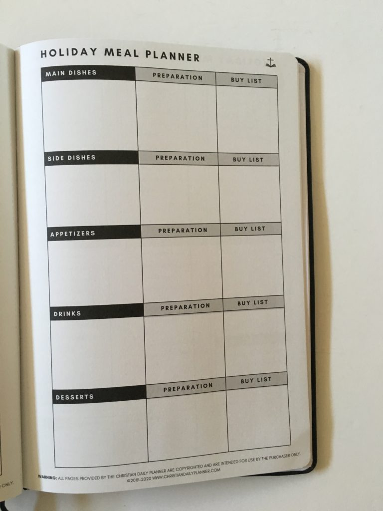 christian daily planner review holiday planner