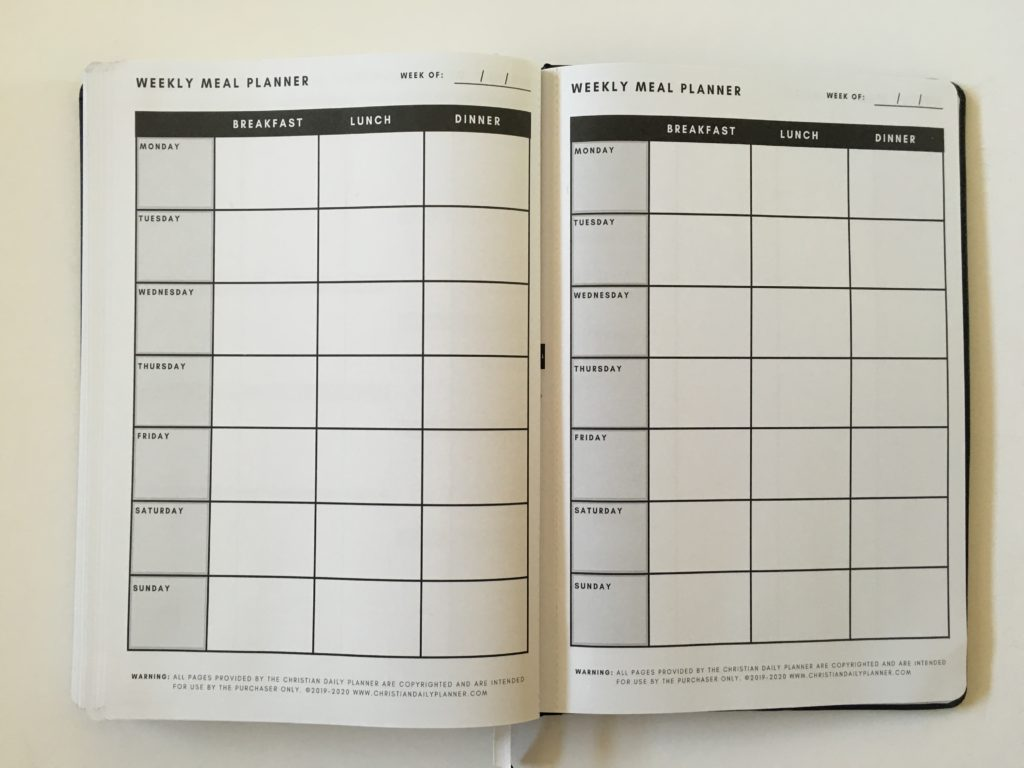 christian daily planner review weekly meal planner perforated pages