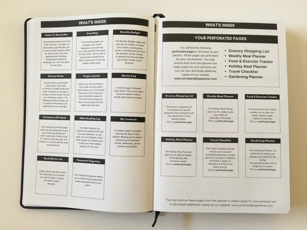 christian daily planner review whats included