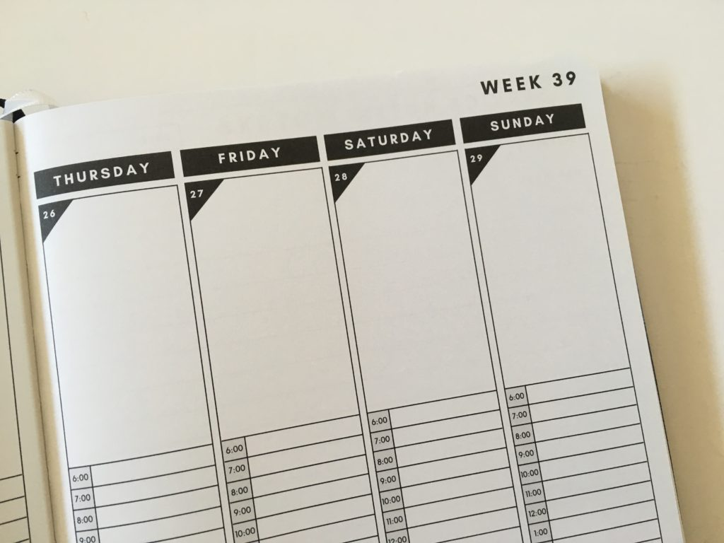 christian daily planner vertical hourly weekly layout schedule 6am to 12pm