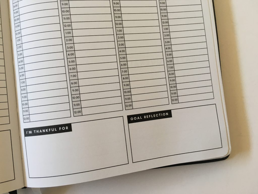 christian daily planner vertical hourly weekly layout schedule 6am to 12pm goals reflection
