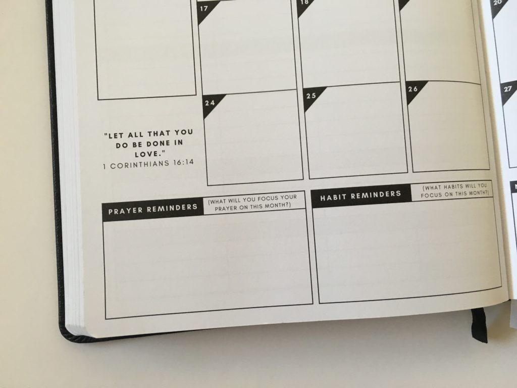 christian planner review monthly spread jesus planner vertical weekly monthly calendar
