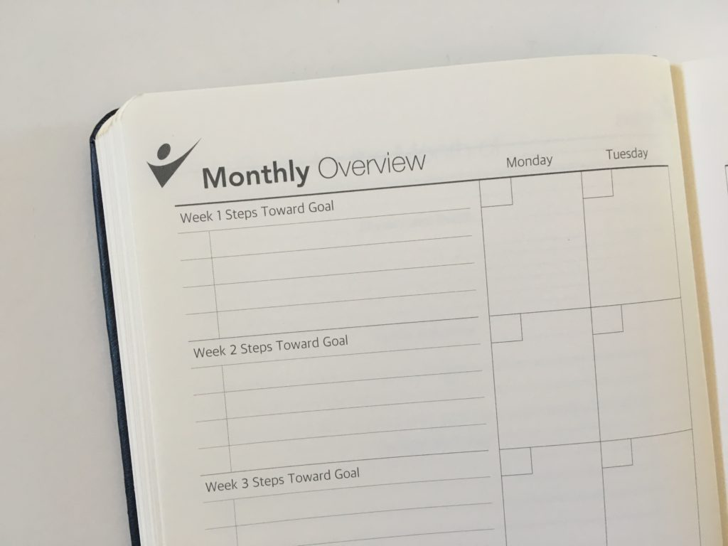 crazy goal planner monthly overview steps breakdown