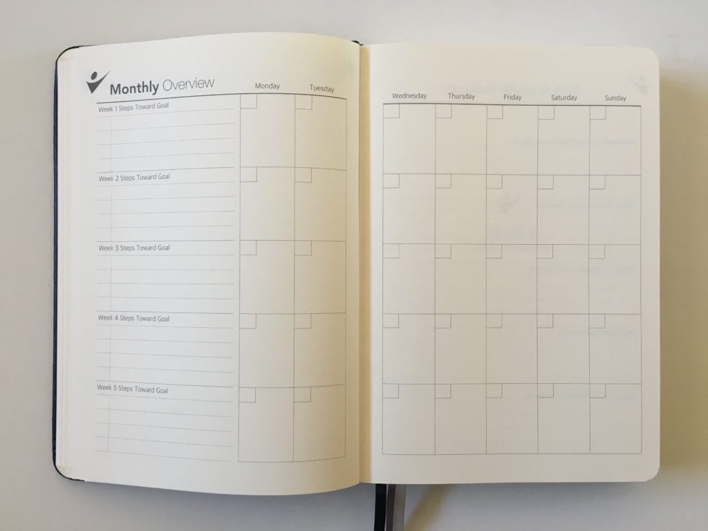 crazy goal planner monthly overview steps breakdown monday start