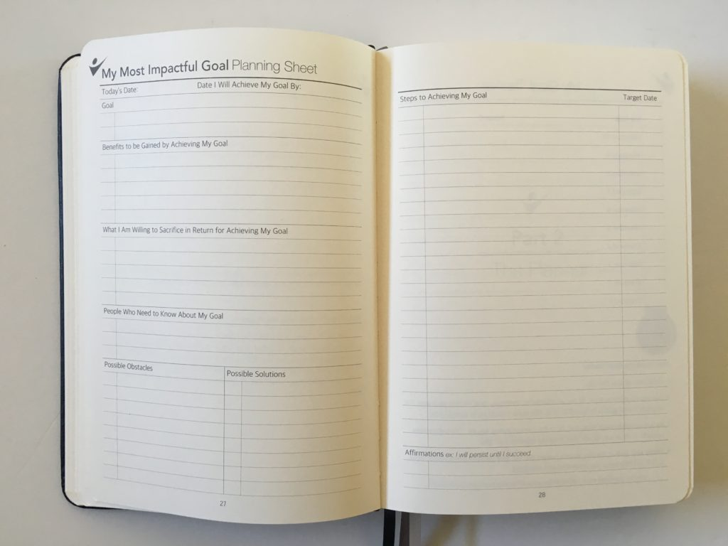 crazy goals planner impactful goal worksheet steps how to breakdown workflow