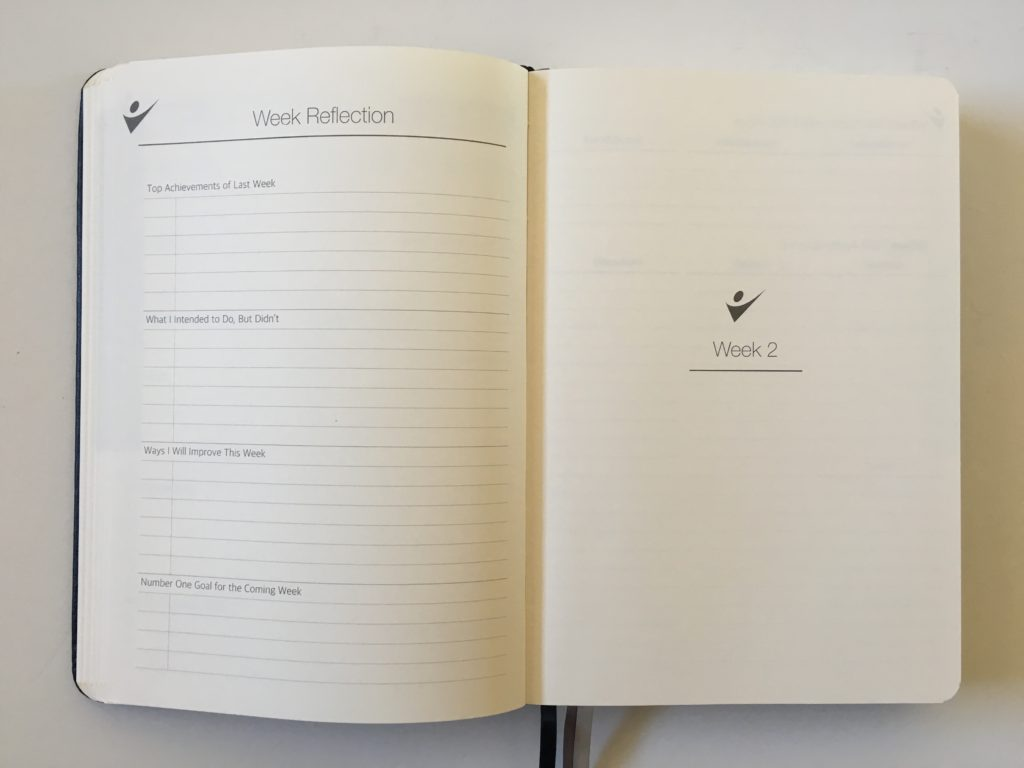 crazy goals planner weekly reflection pros and cons daily and weekly pages 90 day undated planner