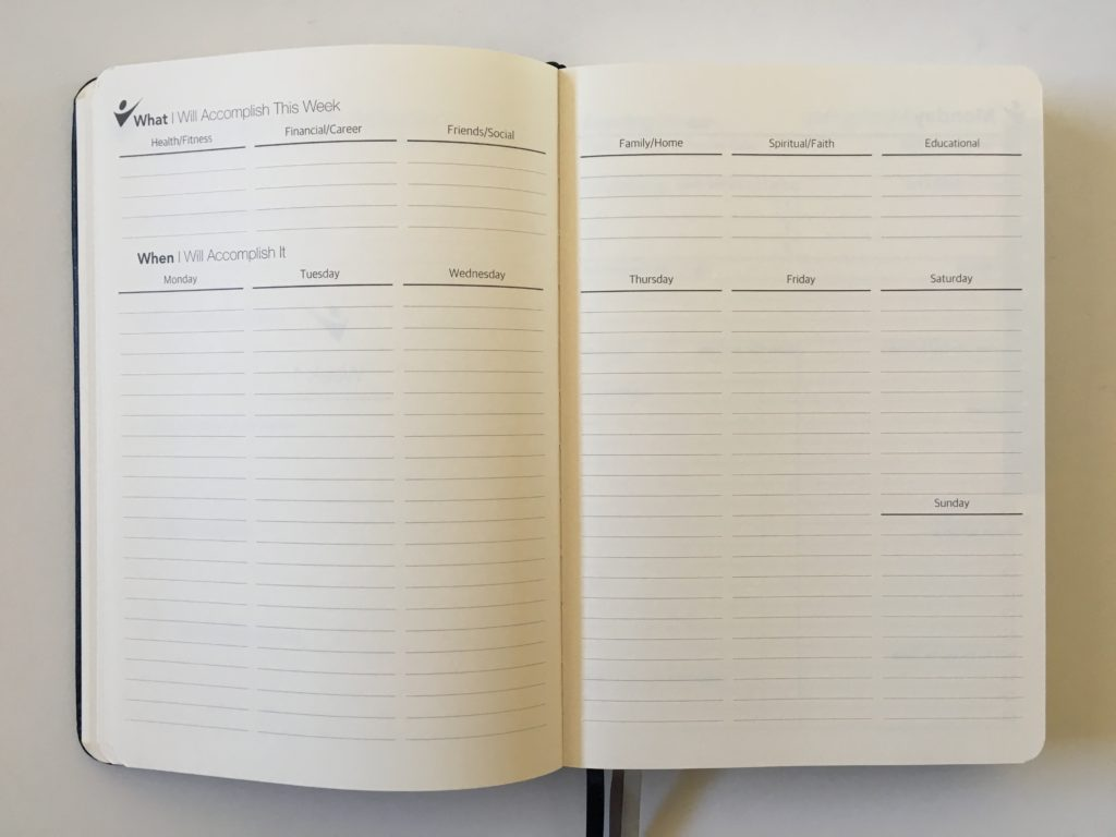 crazy goals planner weekly summary monday start vertical layout