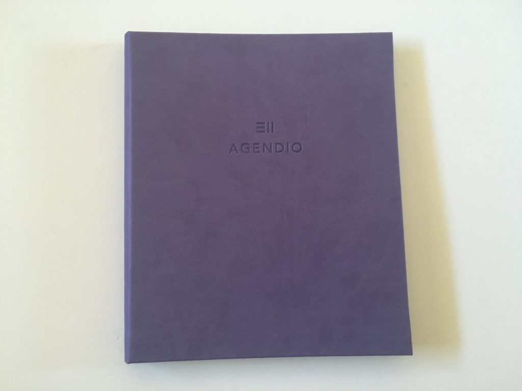 custom agendio planner review hardcover vertical weekly monday start weekends combined