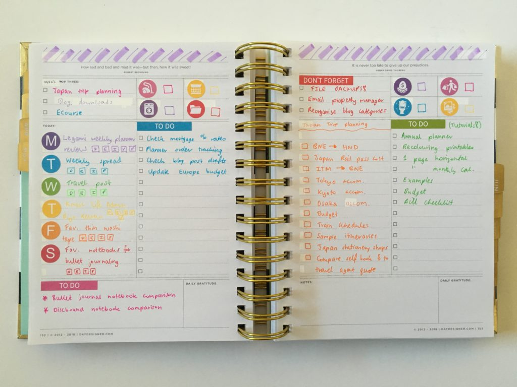 image relating to Day Designer titled Changing the Working day Designer day-to-day into a weekly planner