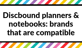 discbound planners and notebooks which brands are compatible tul levenger mambi arc inkwell press 360 disc size spacing page
