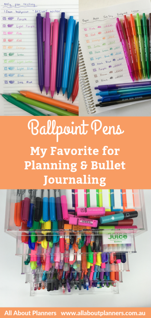 favorite ballpoint pens for planning and bullet journaling best planner supplies brands recommendations planner addict
