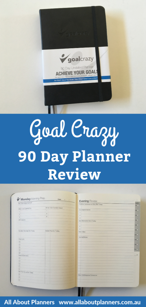 goal crazy planner review daily 2 days per page minimalist habit tracker weekly spread monday start monthly calendar