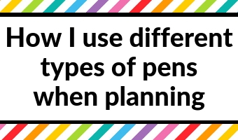how i use different types of pens when planning gel fine tip ballpoint erasable best pens for bullet journal daily planner tips