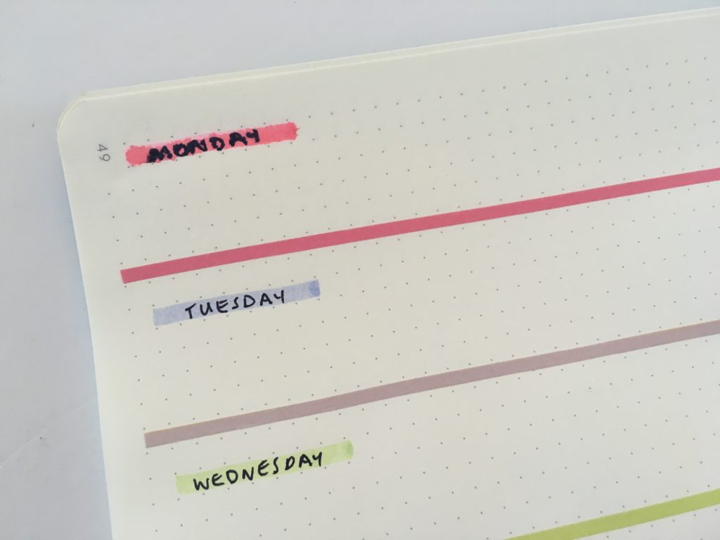 how to fix bullet journal mistakes bujo pros and cons simple minimalist rainbow washi tape