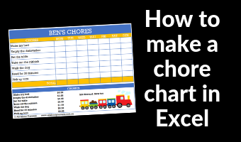 how to make a chore chart in microsoft excel video tutorial how to make printables