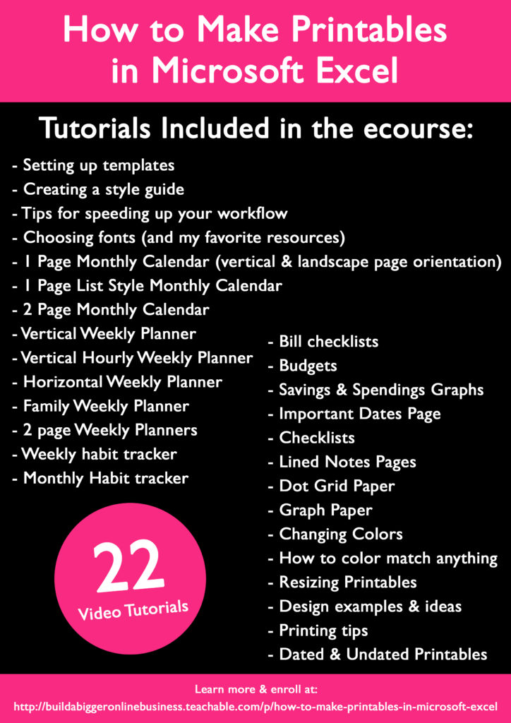 how to make planner printables in excel microsoft google sheets budgeting spreadsheets bullet journal weekly planner monthly calendar checklist to do list