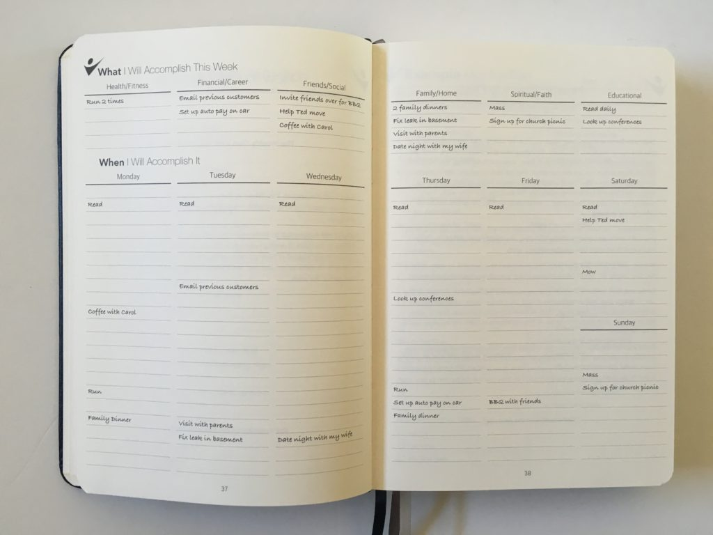 how to use the crazy goals planner weekly planning overview